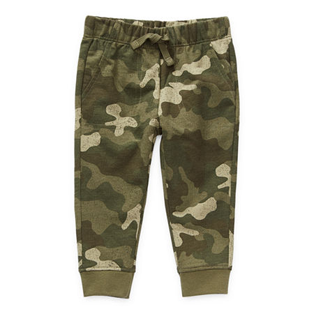 Okie Dokie Baby Boys Cuffed Pull-On Pants, 24 Months , Green
