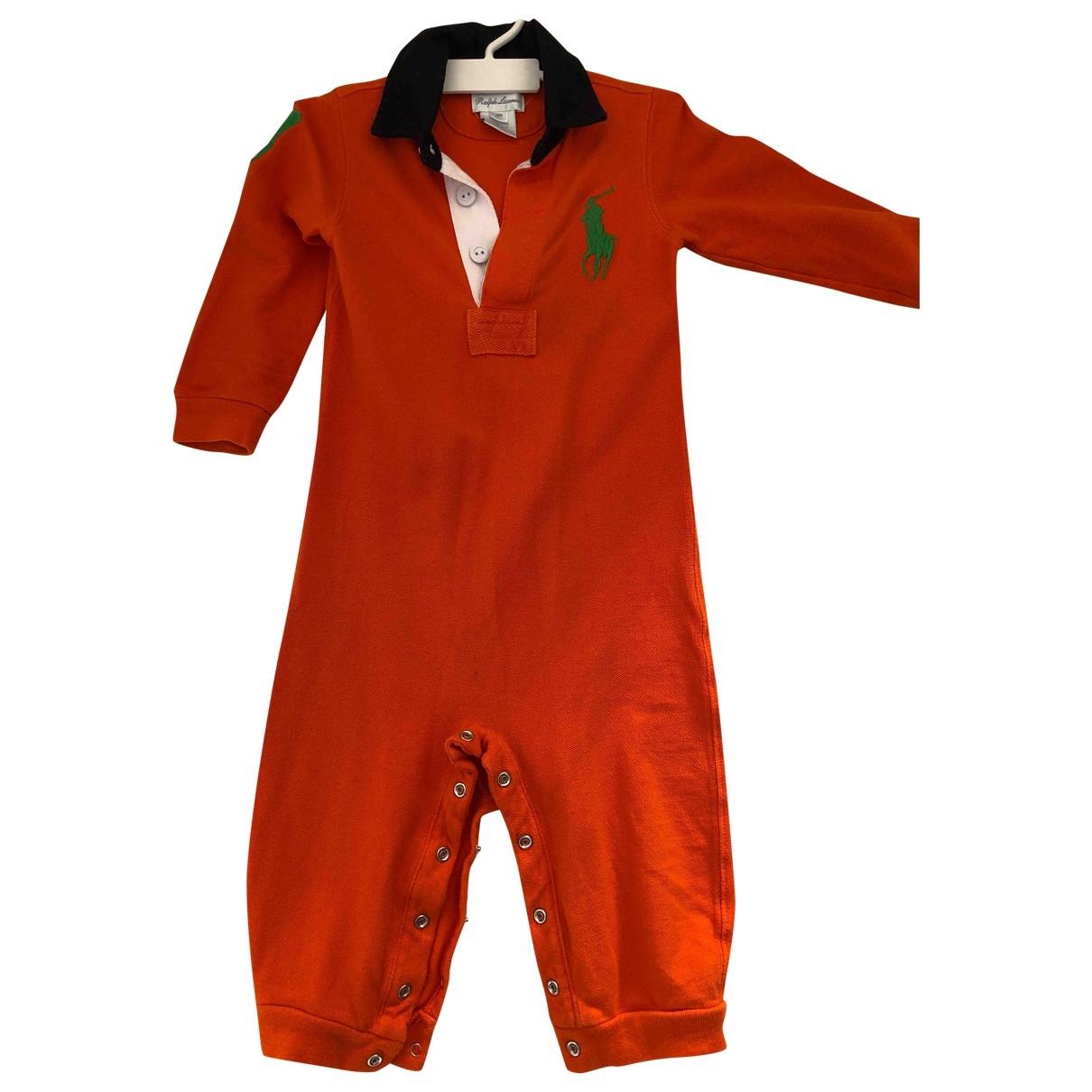 Ralph Lauren - Les ensembles   pour enfant en coton - orange