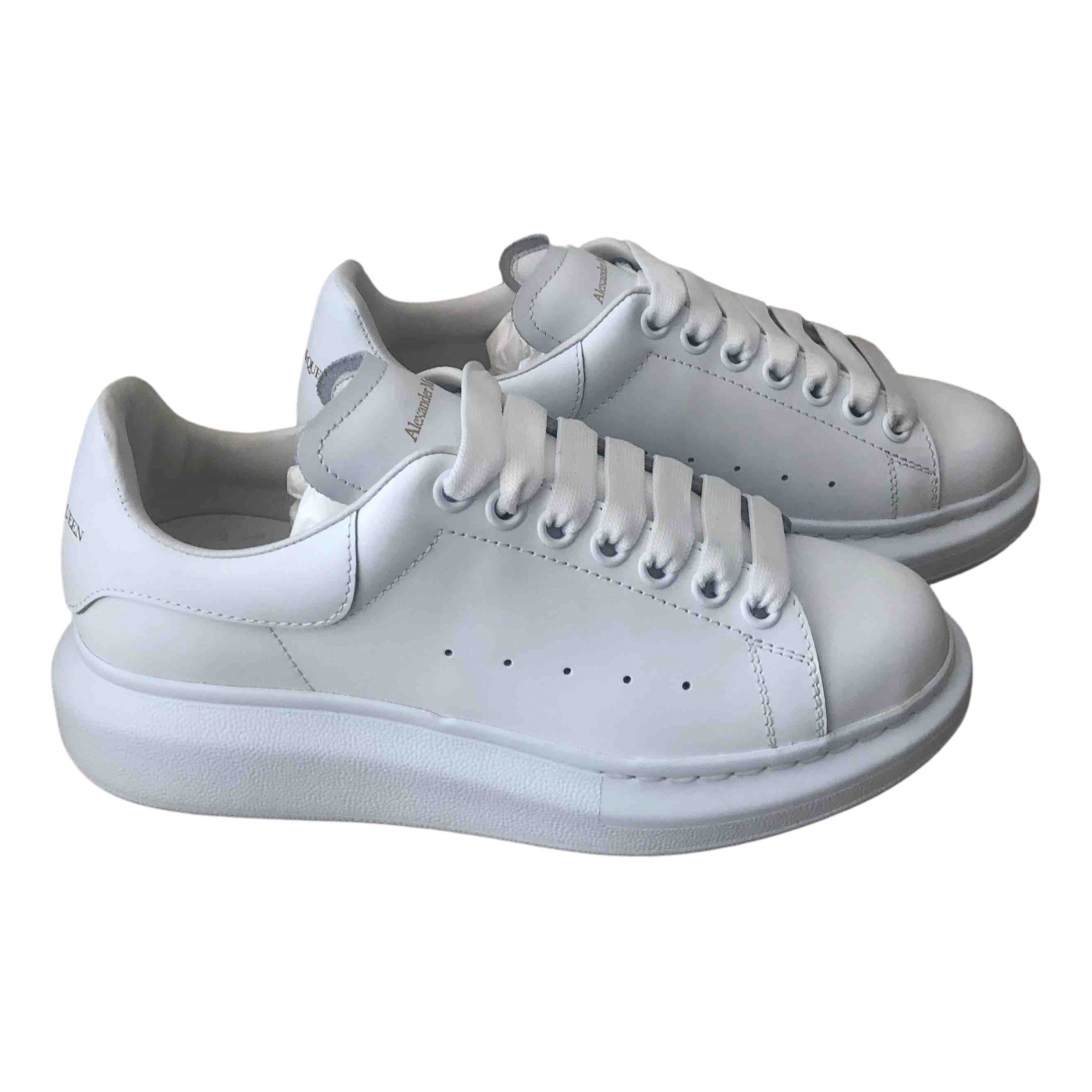 Alexander Mcqueen Oversize White Leather Trainers for Women 37 EU