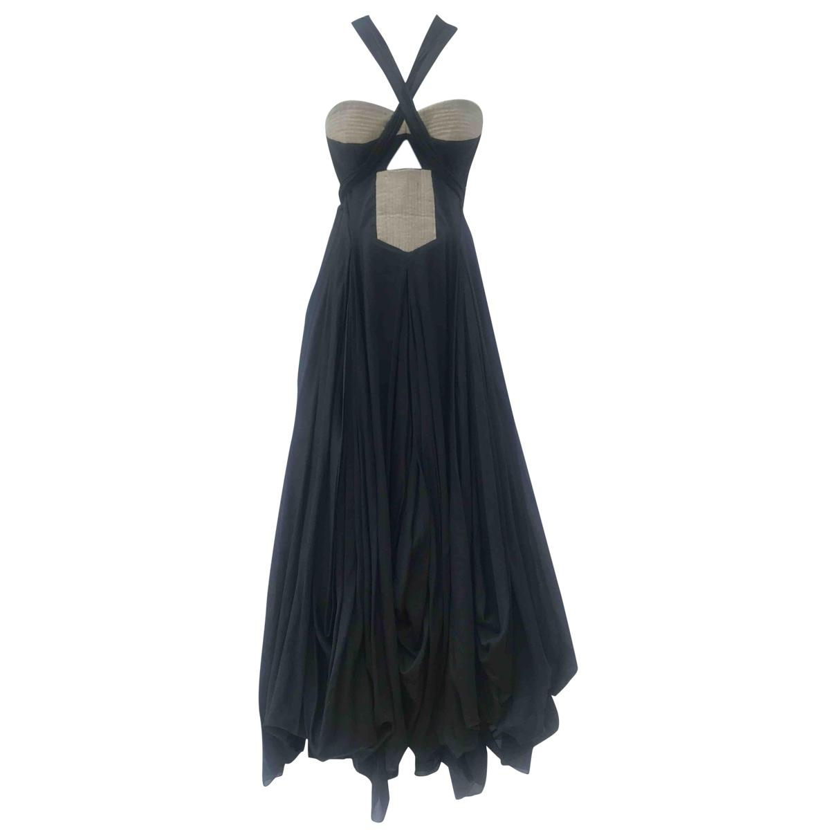 Willow \N Kleid in  Schwarz Baumwolle