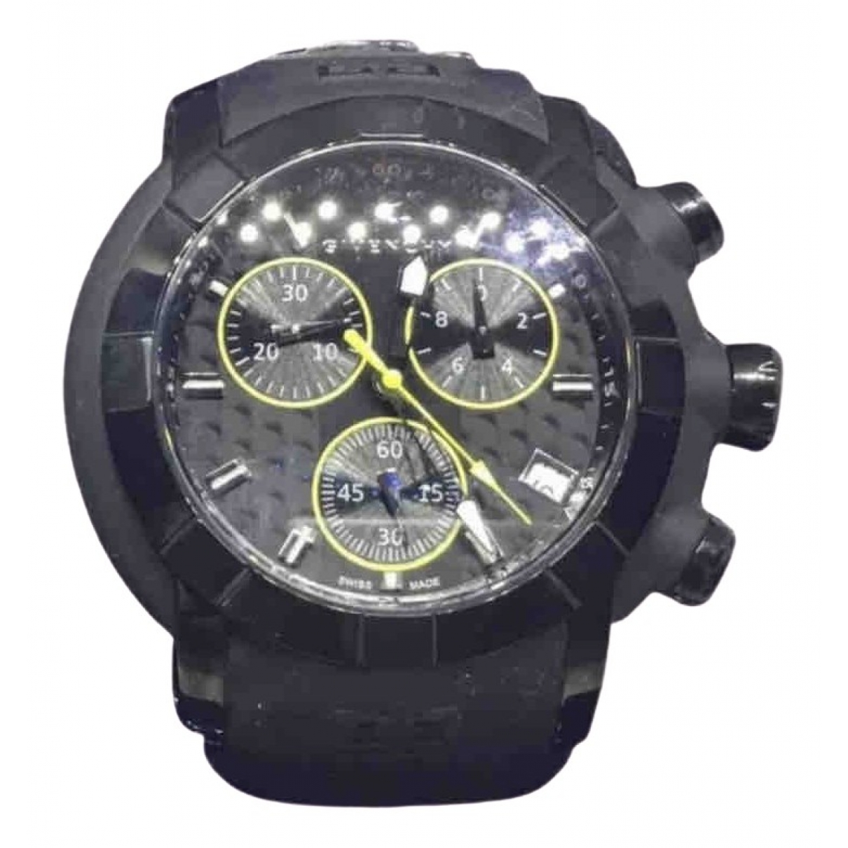Givenchy \N Black Steel watch for Men \N