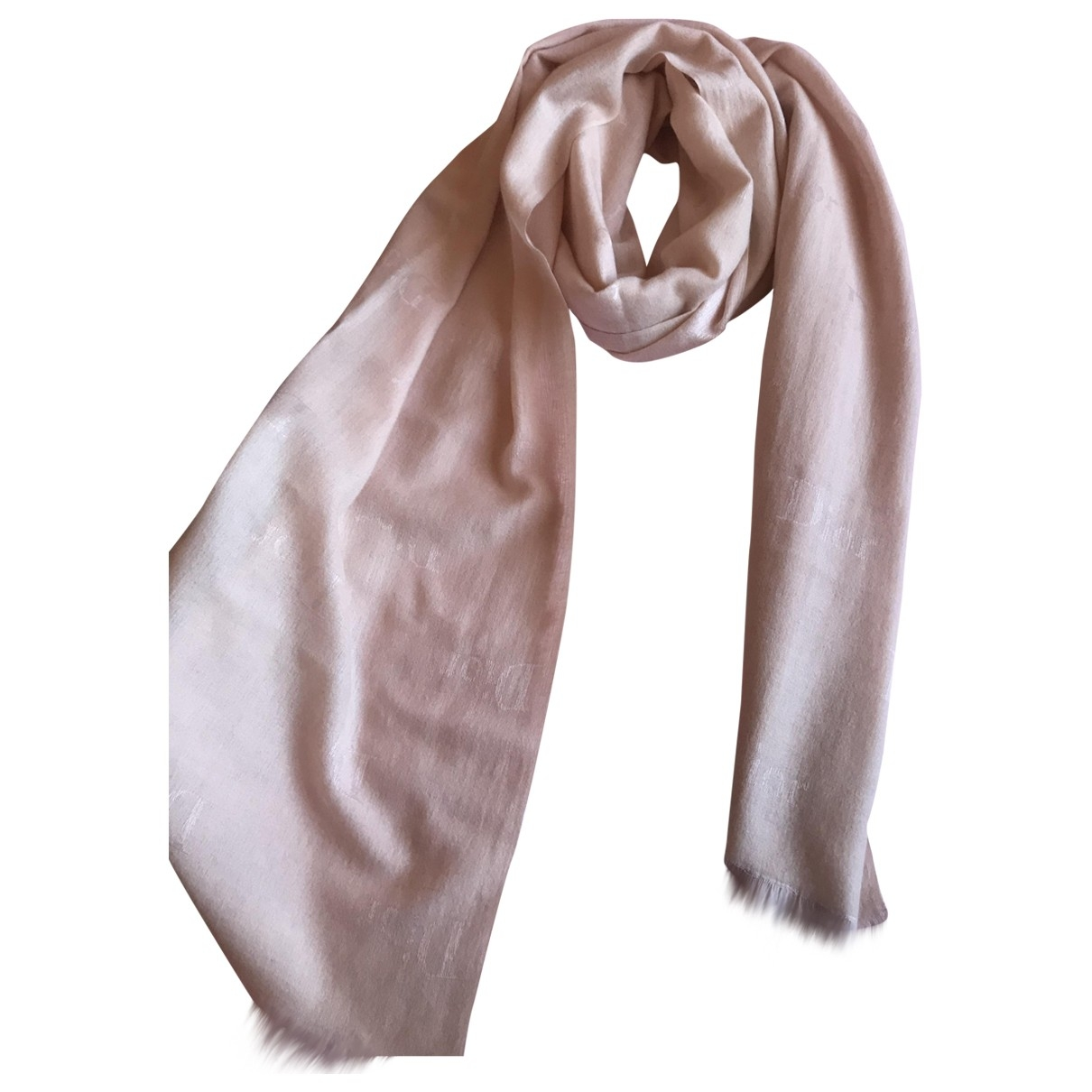 Dior \N Pink Cashmere scarf for Women \N