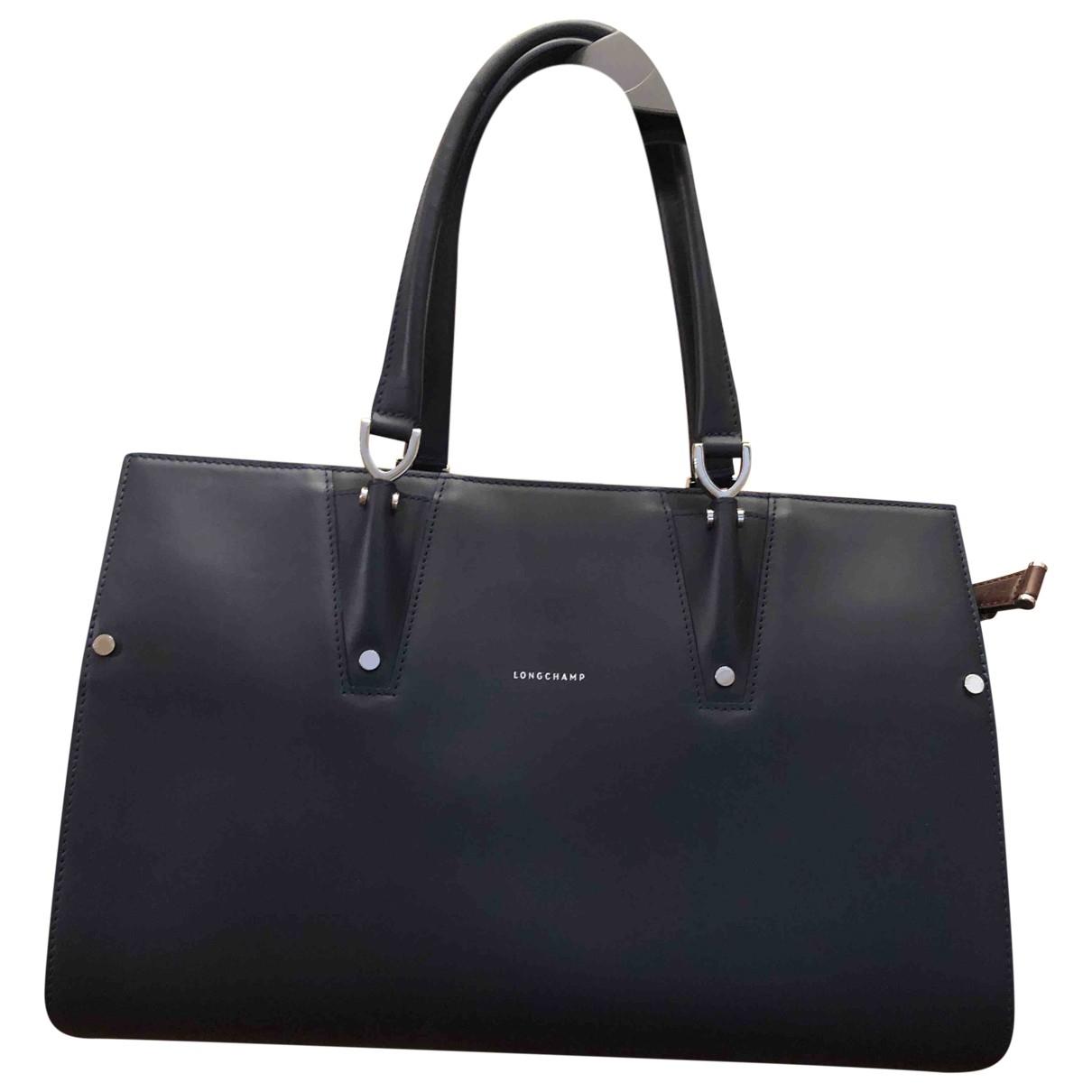Longchamp Penelope  Blue Leather handbag for Women \N