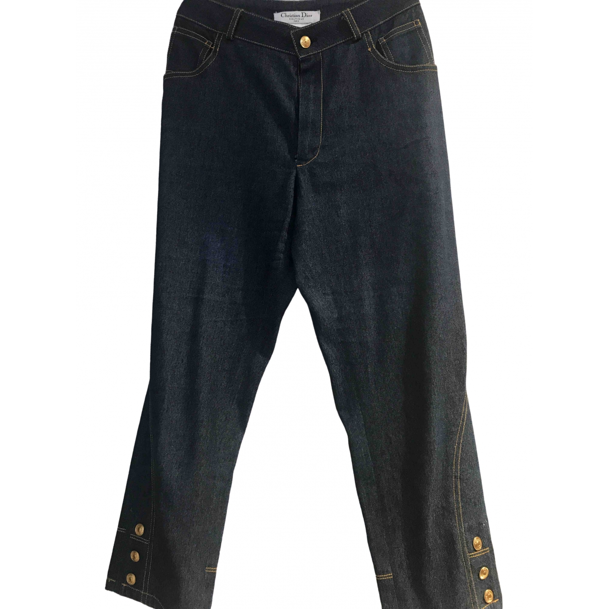 Dior \N Blue Denim - Jeans Trousers for Women 38 FR