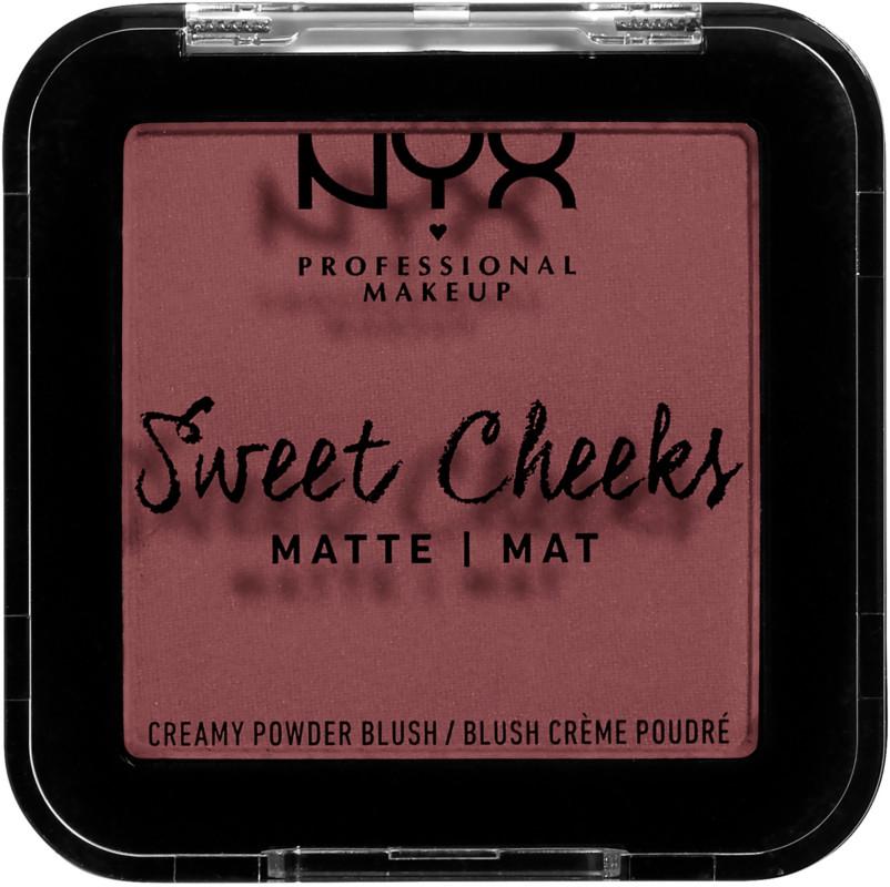 Sweet Cheeks Creamy Powder Blush (Matte) - Fig (mauve)