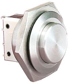 Bulgin Single Pole Single Throw (SPST) Momentary Push Button Switch, IP66, 25.8 (Dia.)mm, Panel Mount, 250V ac