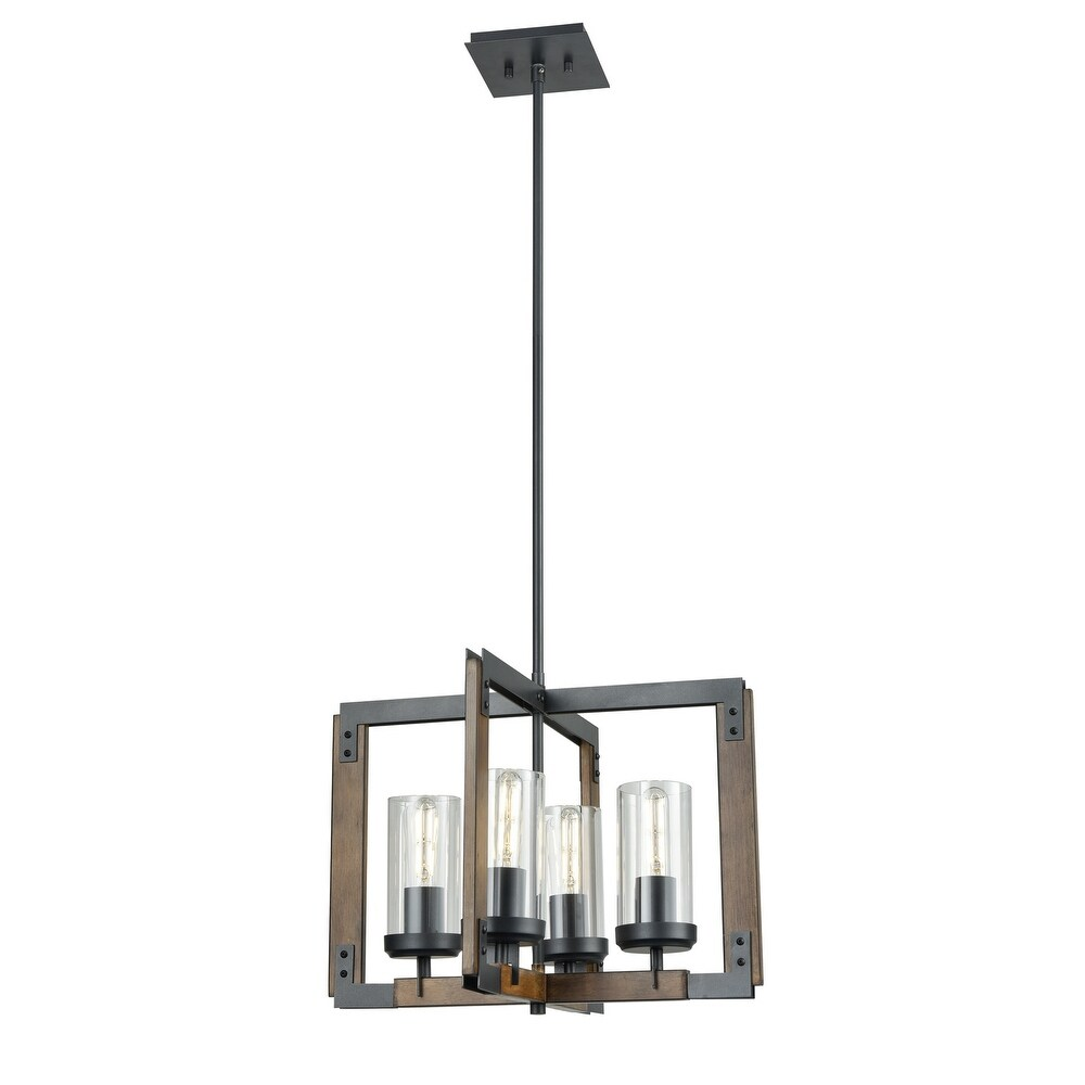 DVI  DVP38620GR IWCL Four  Pendant Okanagan GraphiteIronwood On Metal - One Size (One Size - Clear)