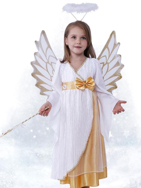 Milanoo Halloween Angel Girl Costume Adolescent Fancy Costume