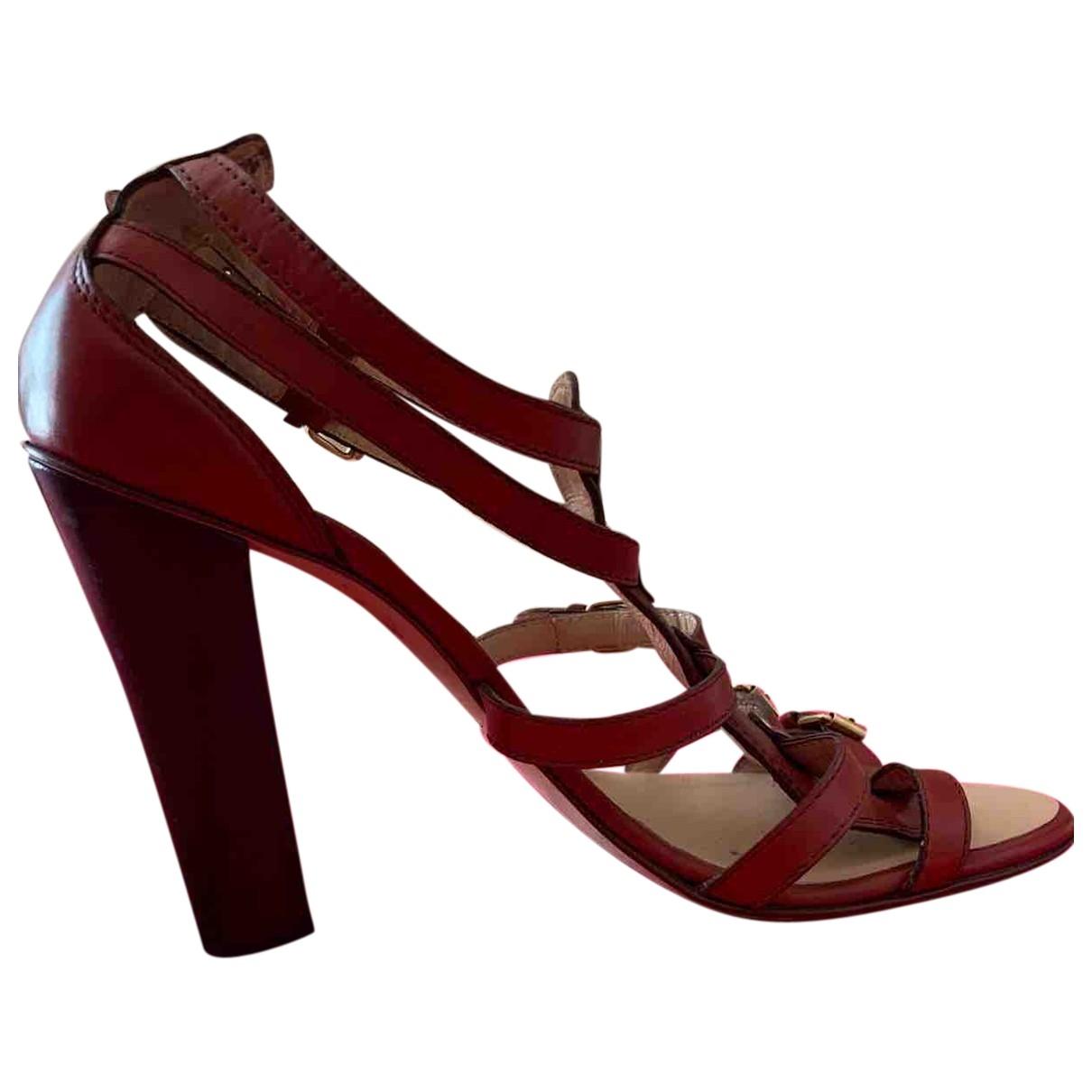 Giuseppe Zanotti \N Burgundy Leather Sandals for Women 40 EU