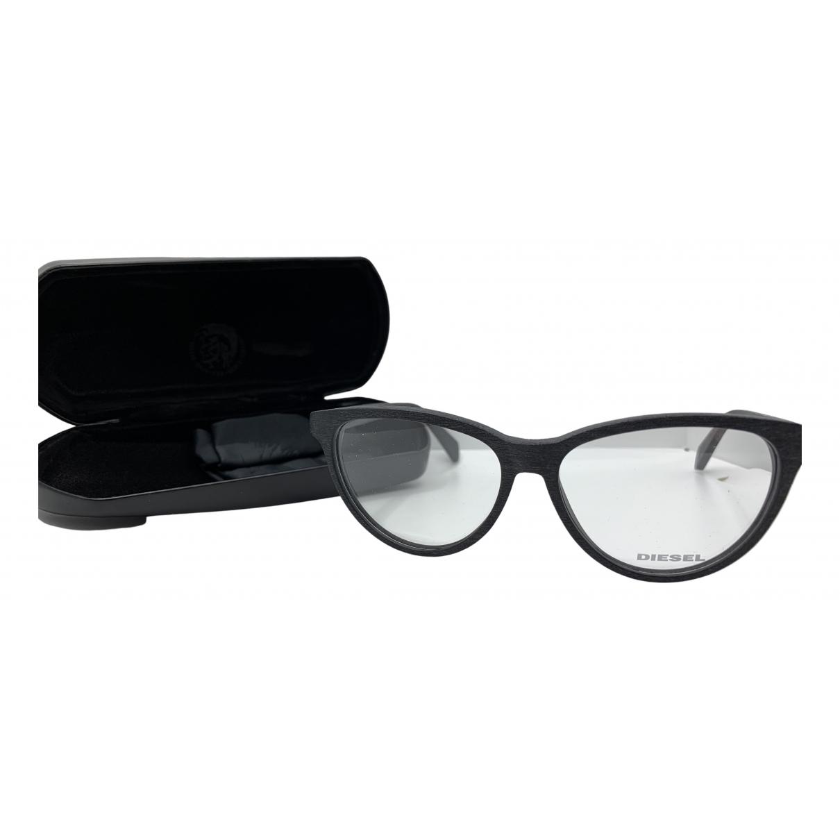 Diesel N Anthracite Wood Sunglasses for Women N