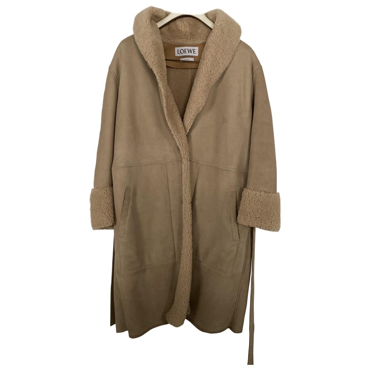 Loewe - Manteau   pour femme en mouton - beige