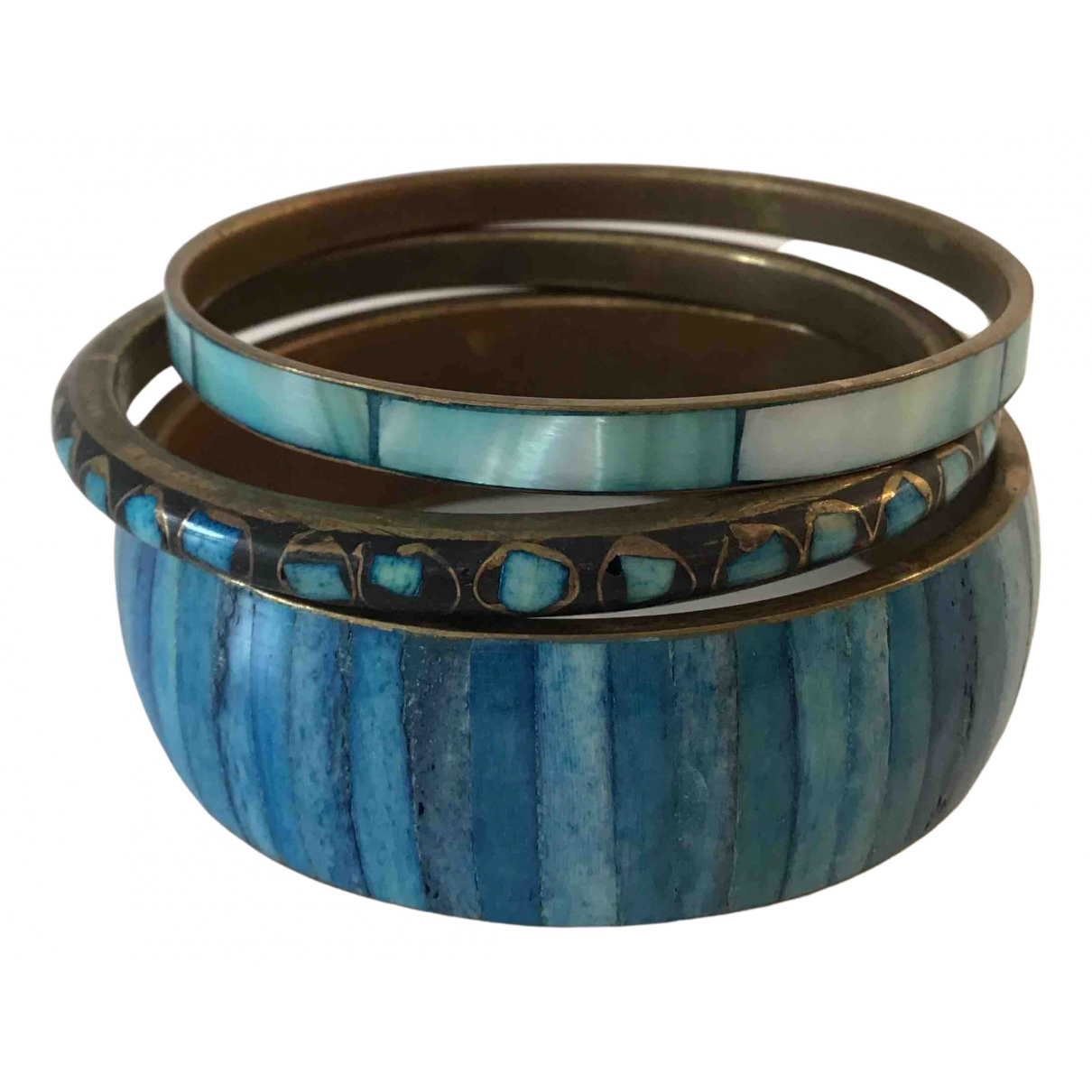 Non Signé / Unsigned Turquoises Turquoise Metal bracelet for Women N