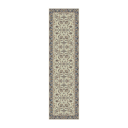 Alba Siena Traditional Oriental Area Rug, One Size , Green