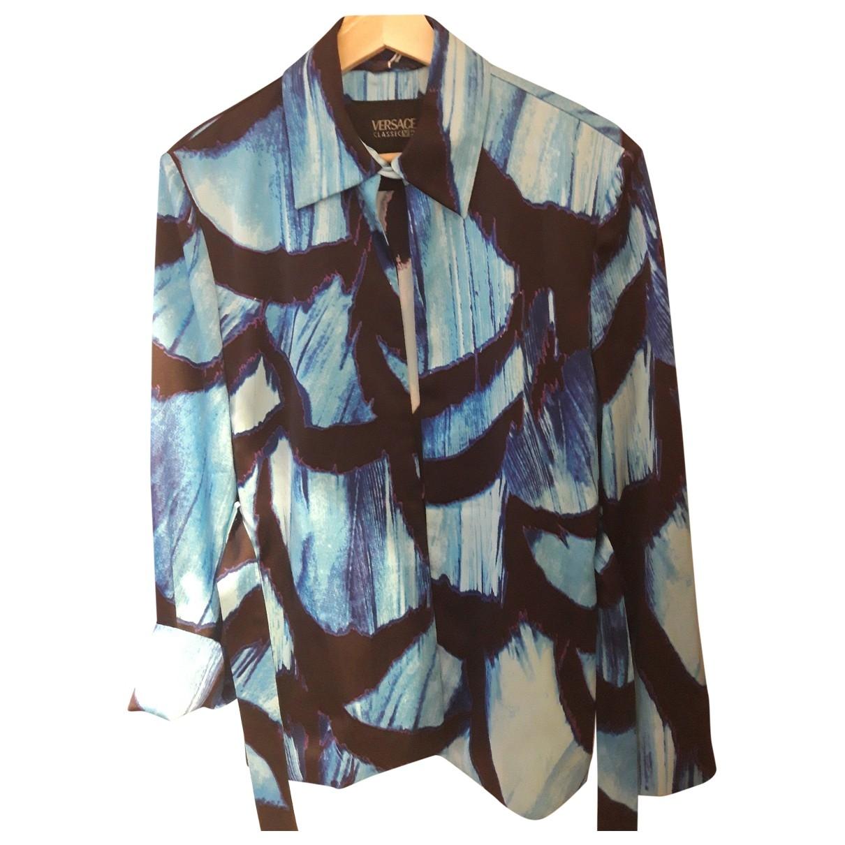 Versace \N Jacke in  Blau Synthetik