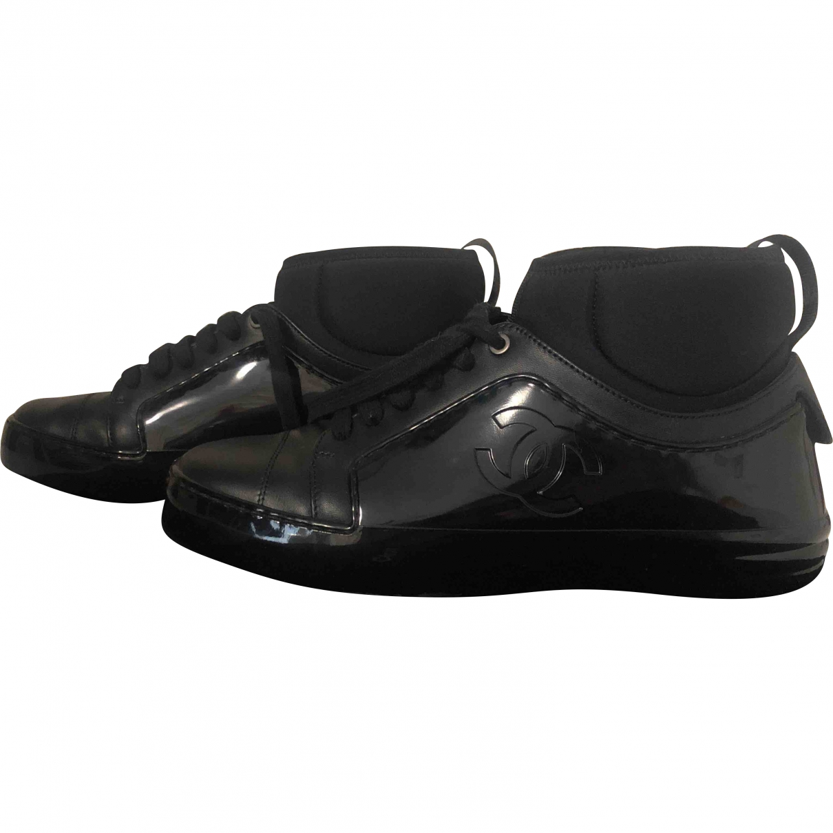 Chanel \N Black Patent leather Trainers for Women 36 EU