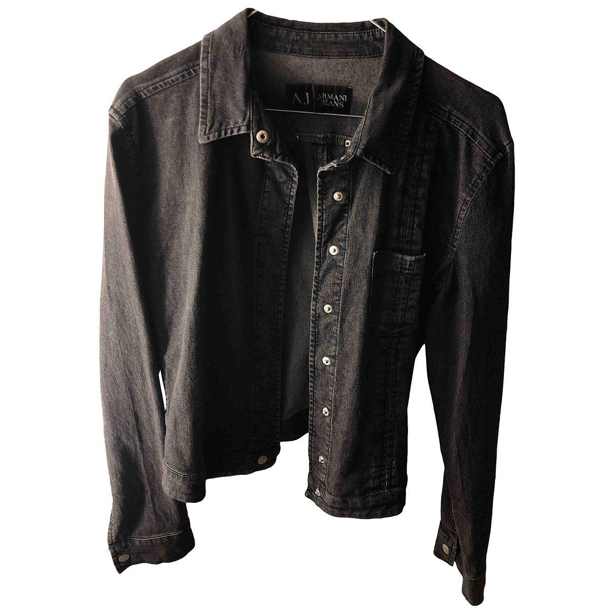 Armani Jeans \N Grey Cotton jacket for Women 36 IT