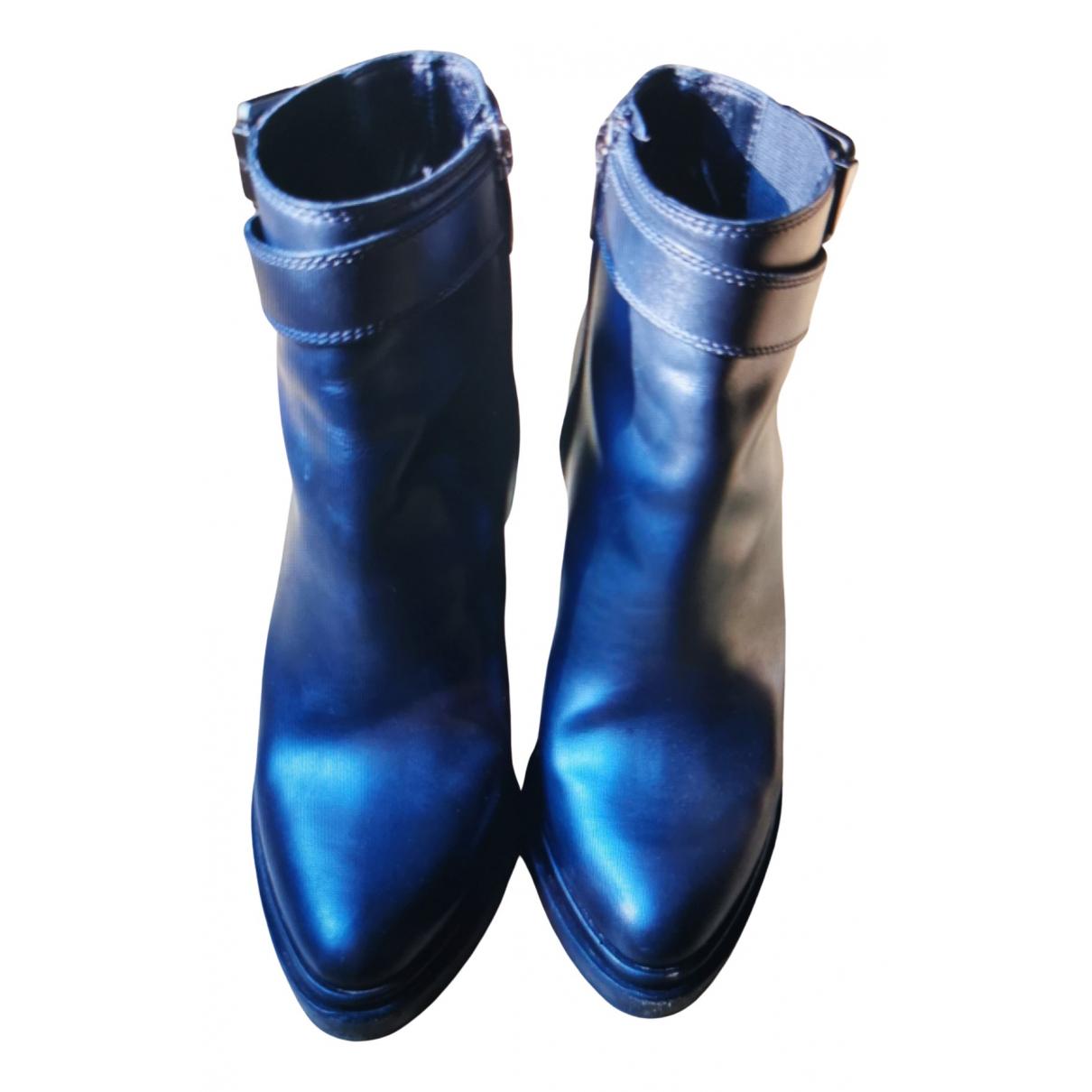 Sergio Rossi - Boots   pour femme en cuir - noir