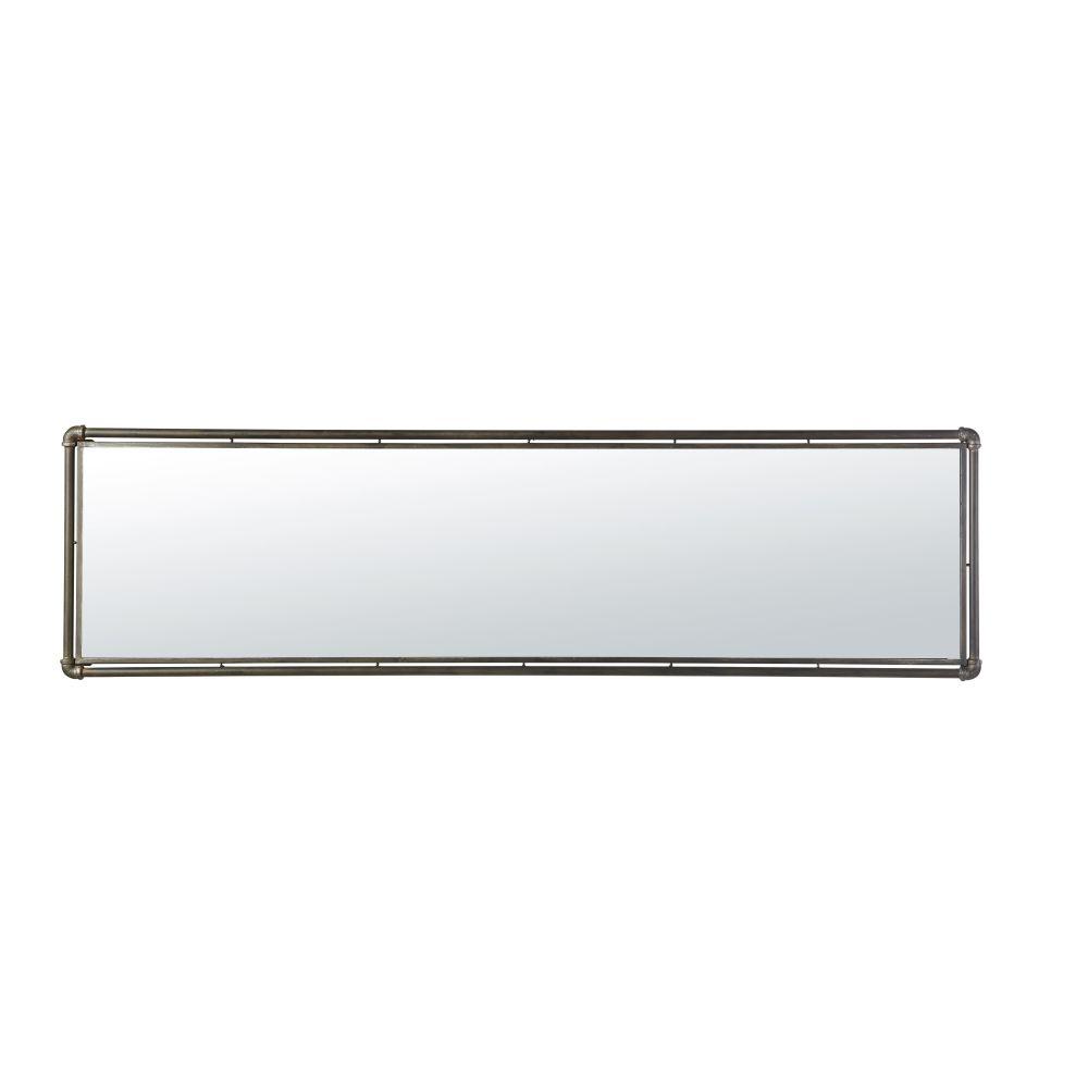 Spiegel mit schwarzem Metallrahmen 46x165