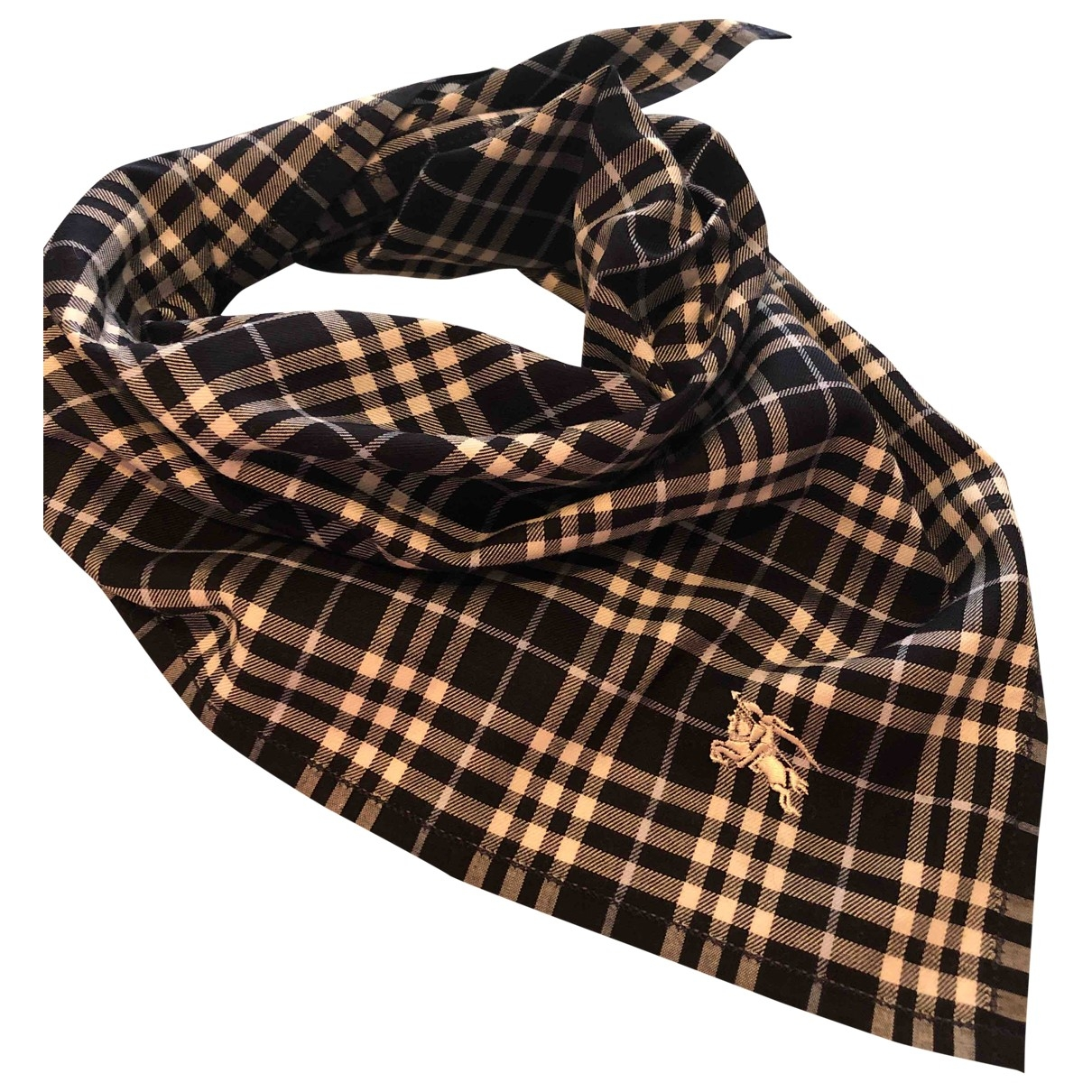 Burberry \N Blue Cotton scarf for Women \N