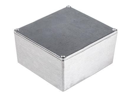 RS PRO Clear Die Cast Aluminium Enclosure, IP54, Shielded, 120.5 x 120.5 x 59.2mm