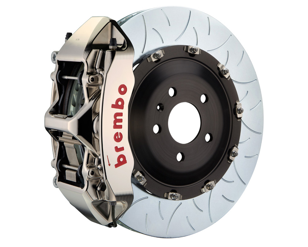 Brembo GT-R 405x34 2-Piece 6 Piston Nickel Plated Slotted Type-3 Front Big Brake Kit