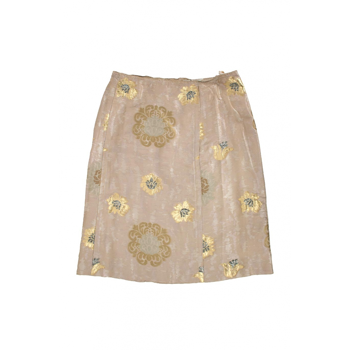 Prada \N Gold Silk skirt for Women 36 FR