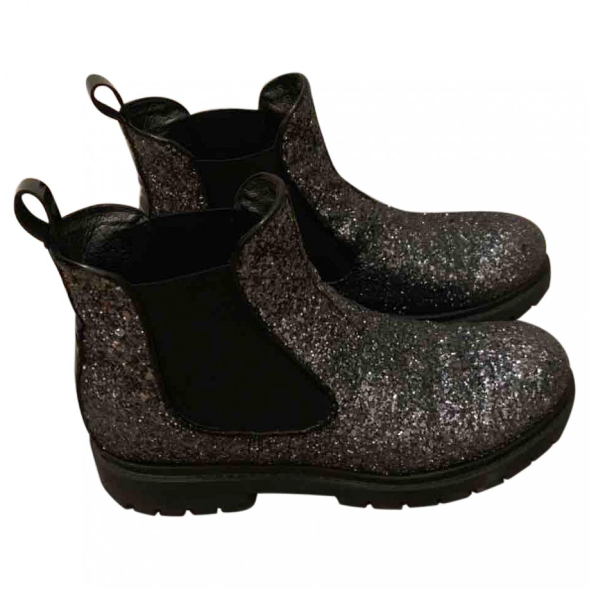 - Boots   pour femme en caoutchouc - anthracite