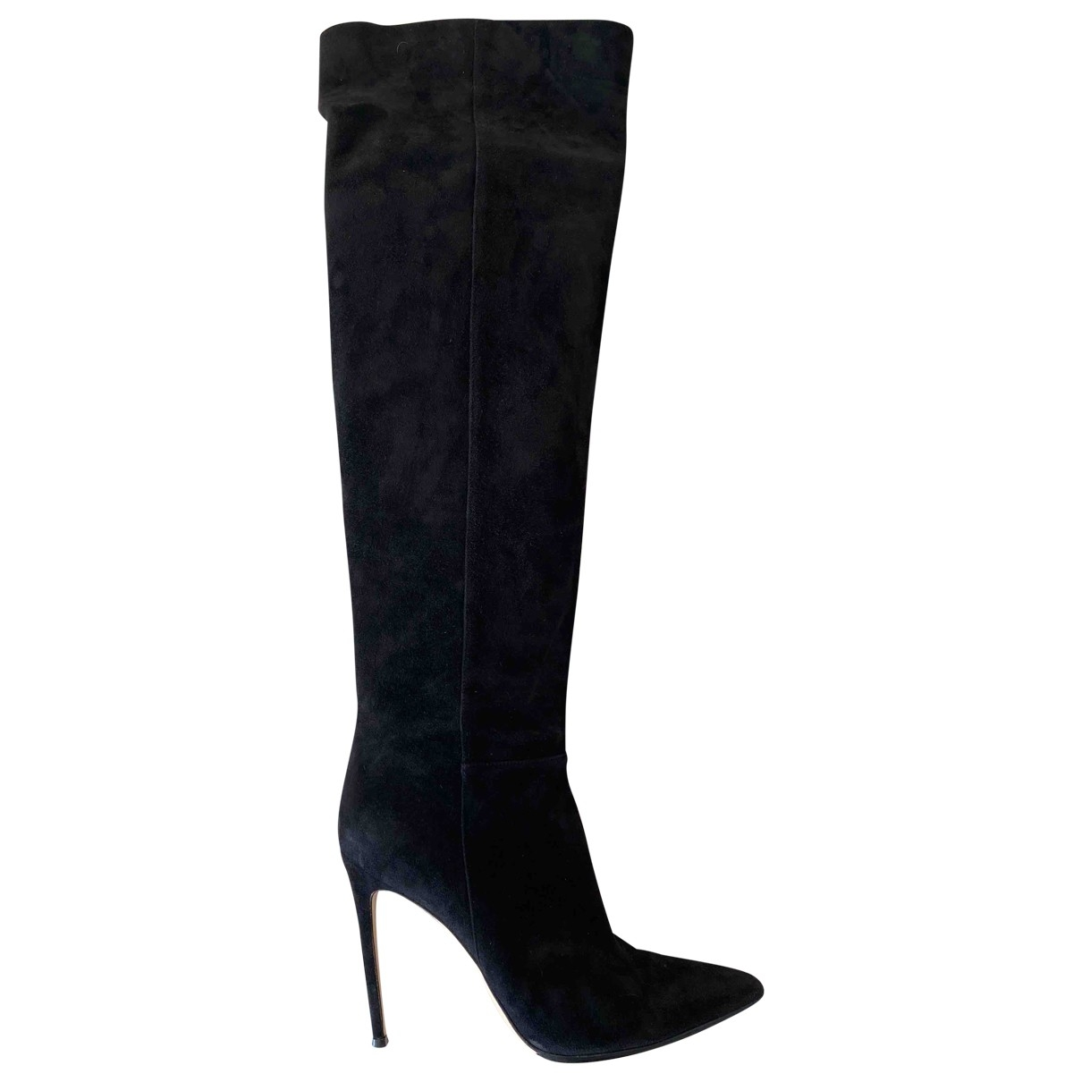 Gianvito Rossi \N Black Suede Boots for Women 40 EU
