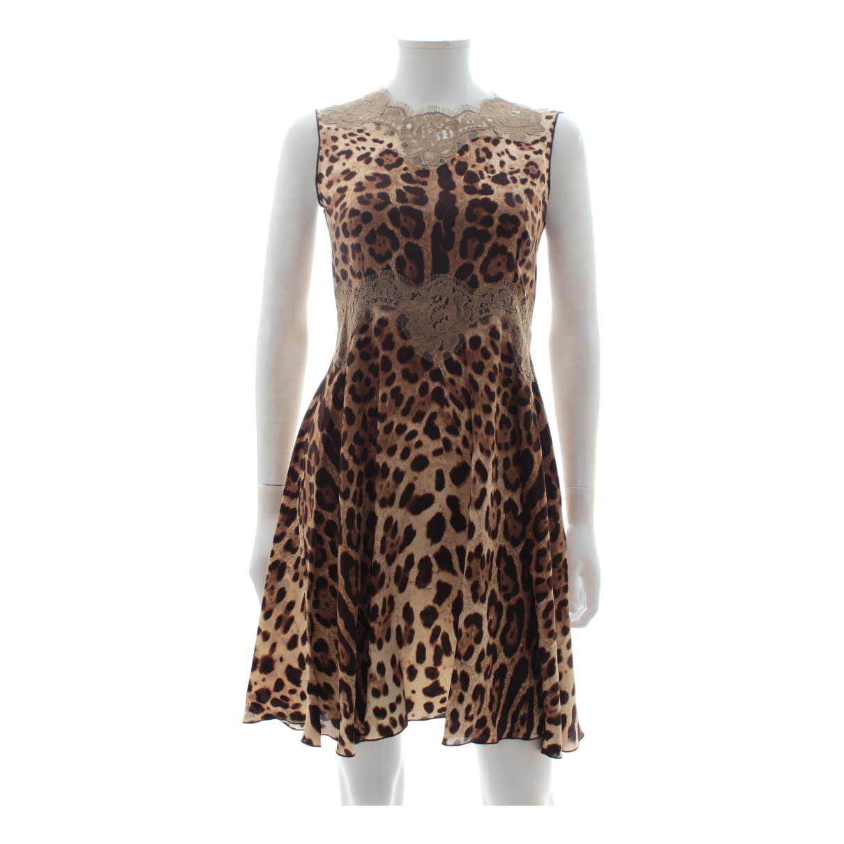 Dolce & Gabbana \N Brown Silk dress for Women 40 IT