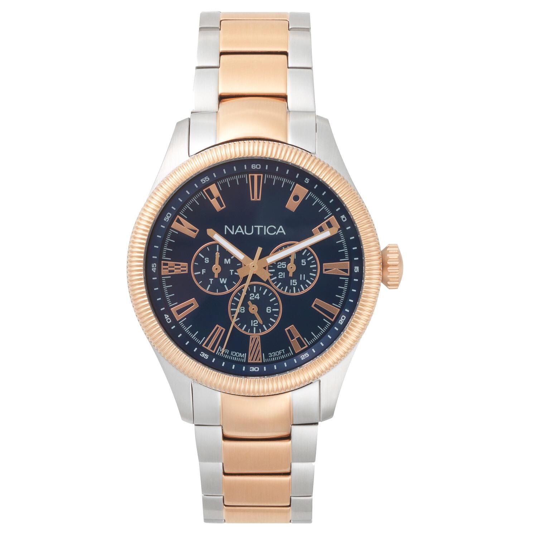 Nautica Mens Starboard NAPSTB005 Blue Stainless-Steel Quartz Fashion Watch