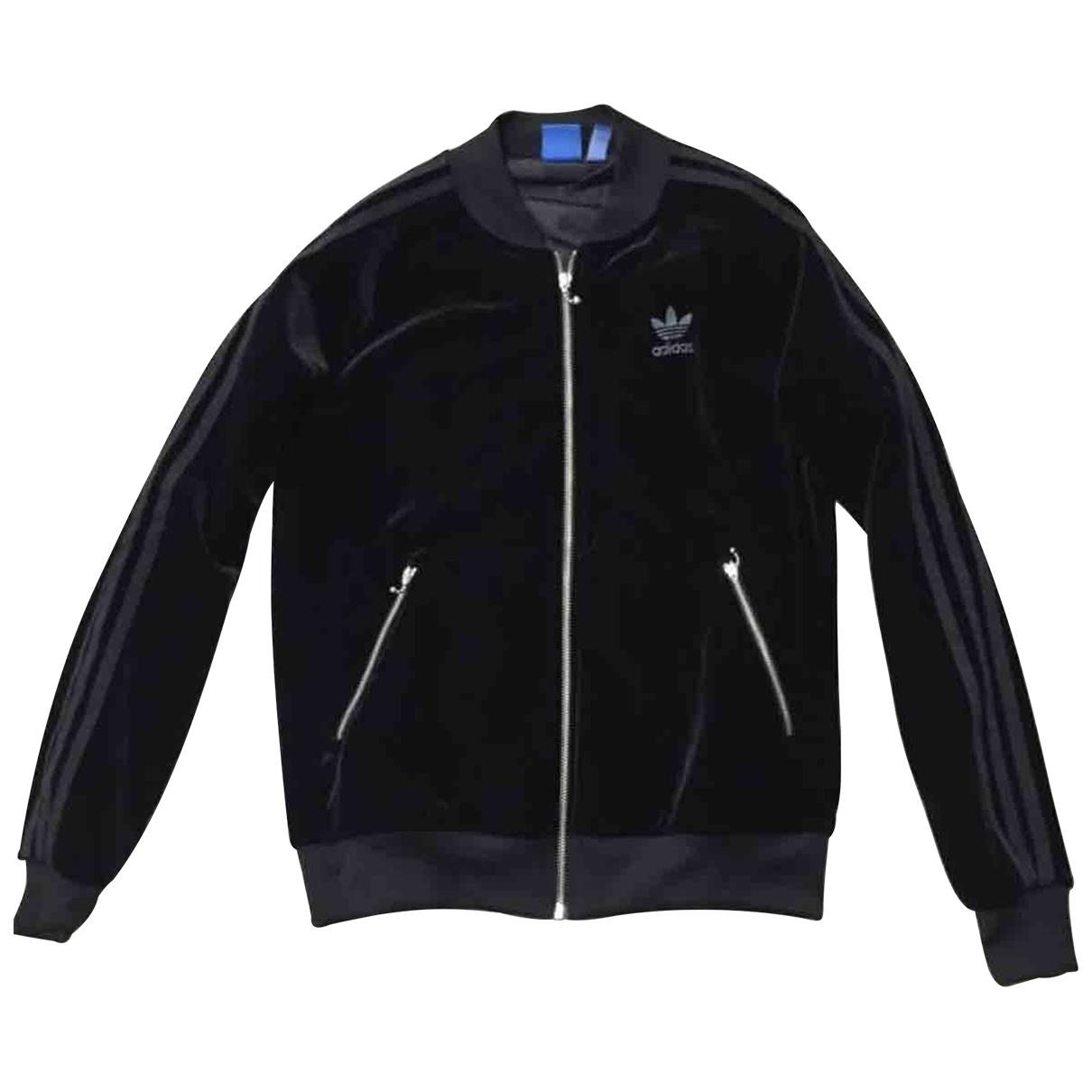 Adidas \N Black Velvet jacket for Women 12 UK