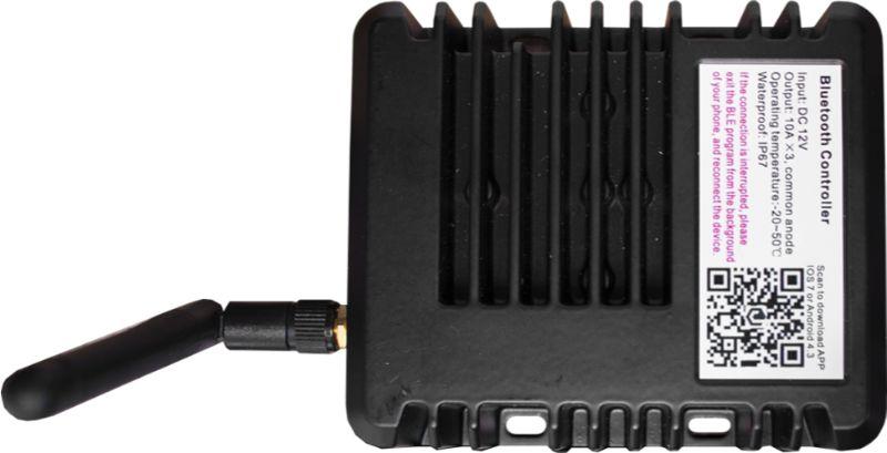 Race Sport Lighting MSUWBTC12V  HydroBLAST Marine Bluetooth RGB Multicolor Controller with 2 RGB Outputs 360-Watts 12-Volt