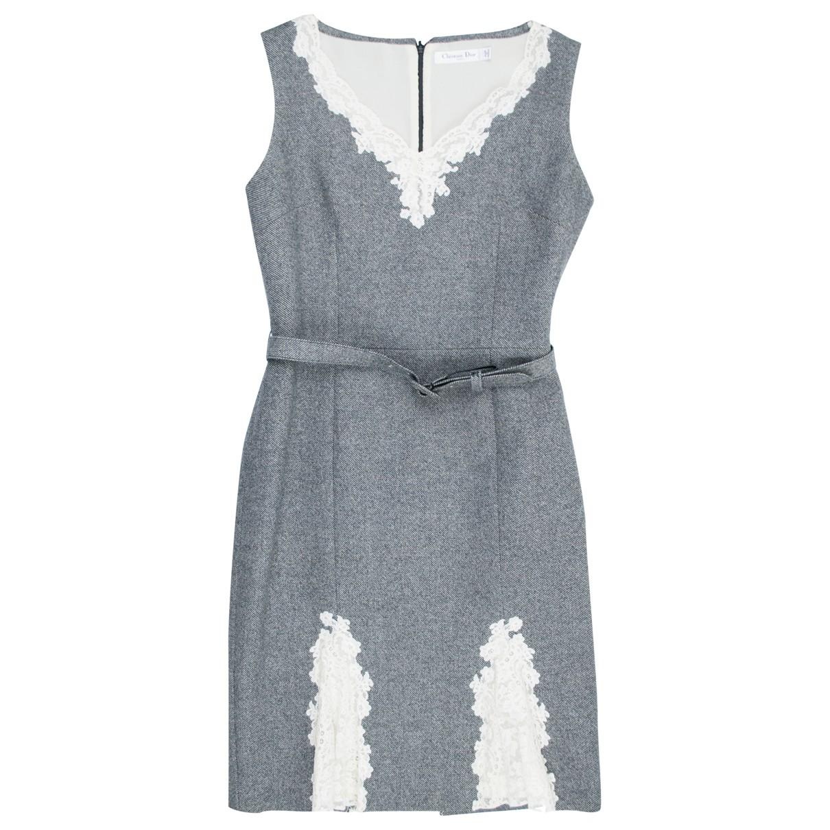 Dior \N Kleid in  Grau Wolle