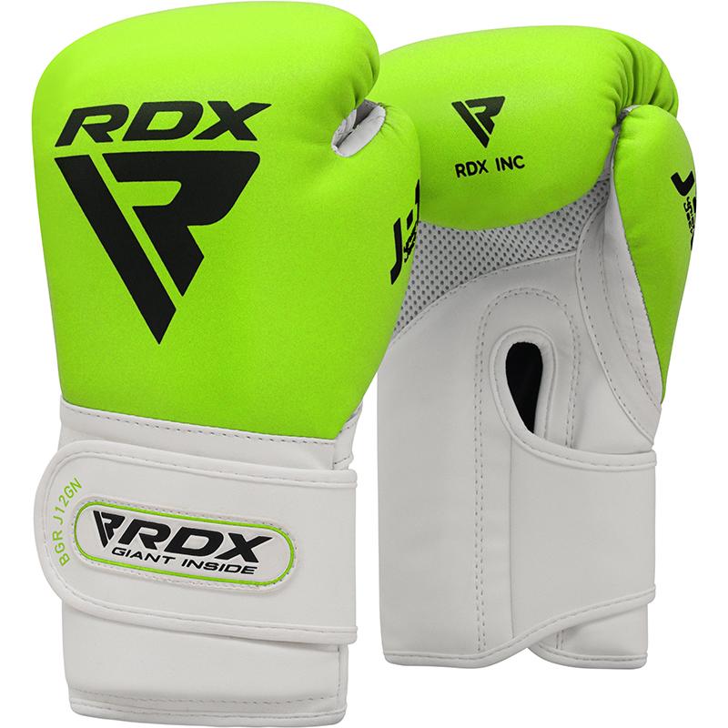 RDX J12 Gants de Boxe pour Enfants 6 oz Vert Cuir PU