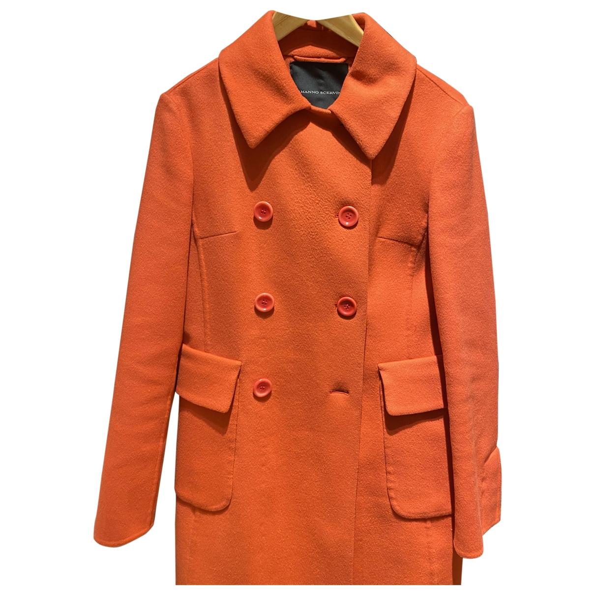 Ermanno Scervino \N Orange Wool coat for Women 42 IT