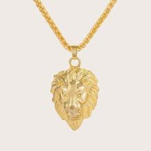 1pc Maenner Lion Charm Halskette