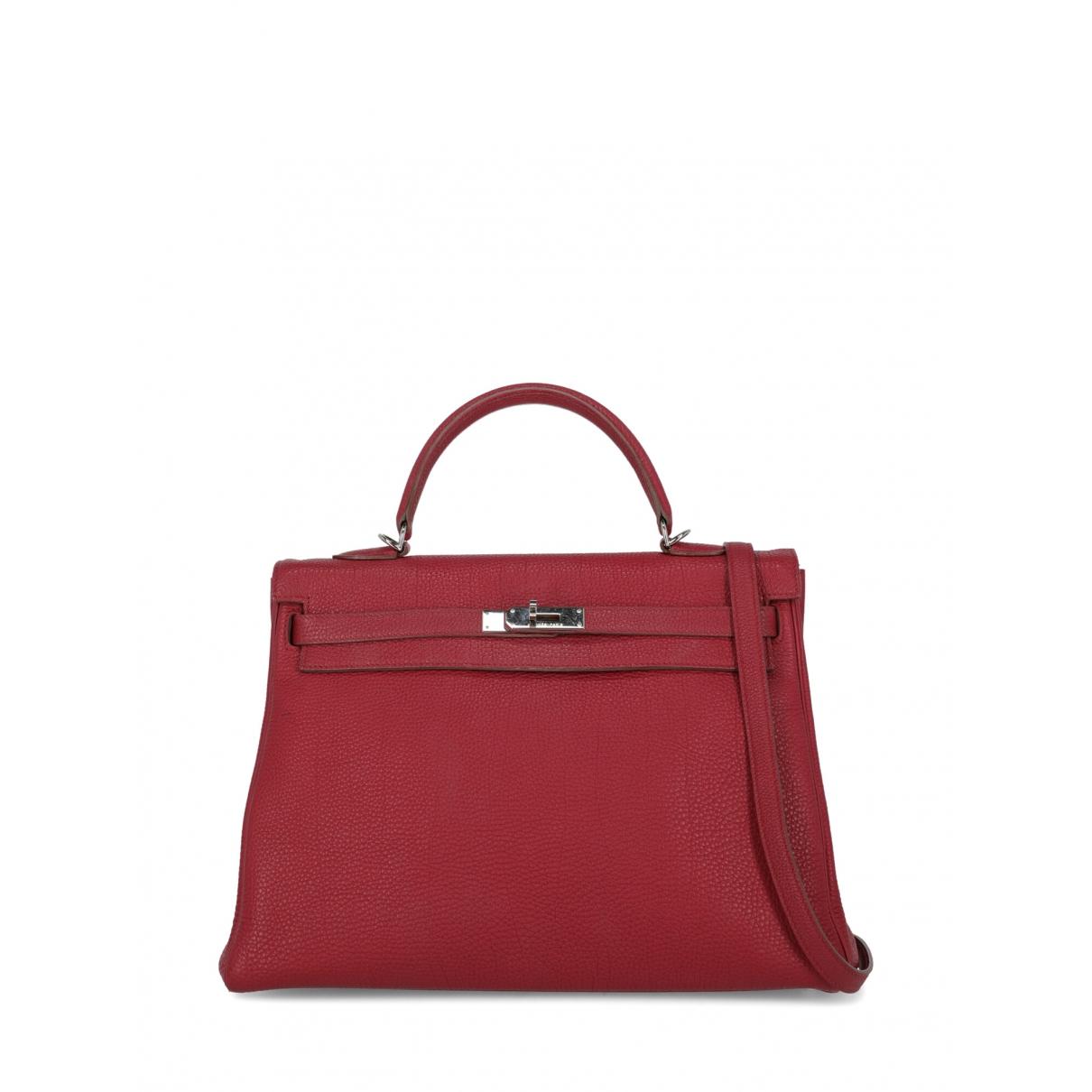 Hermès Kelly 35 Red Leather handbag for Women \N