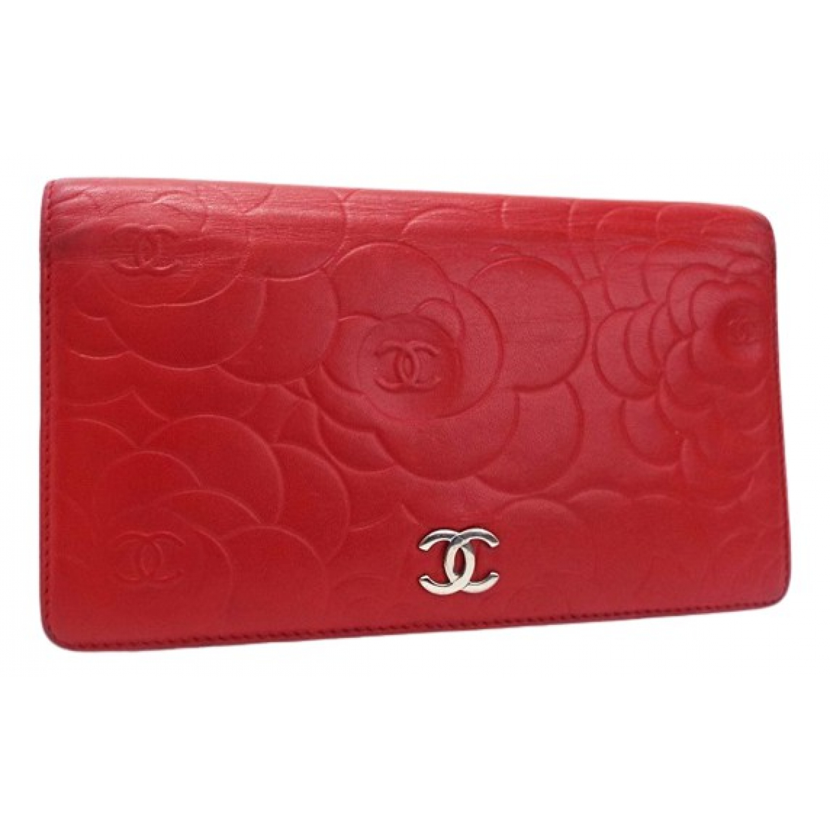 Chanel N Red Leather wallet for Women N