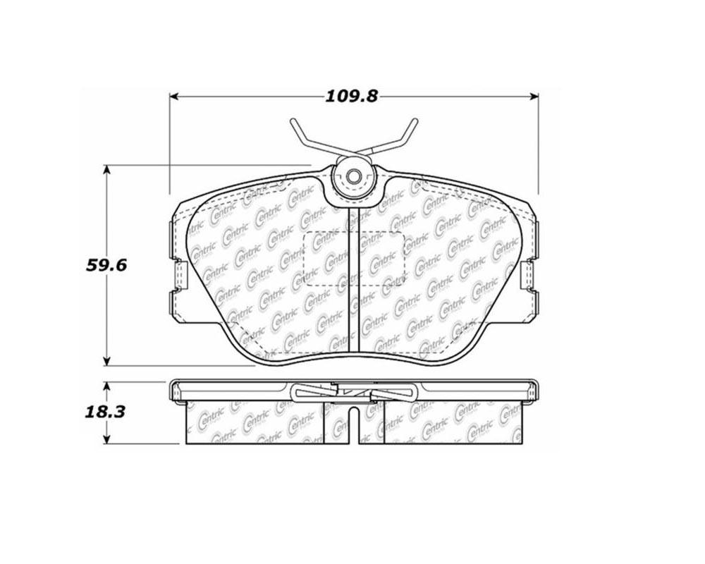 StopTech 104.0423 PosiQuiet Semi Met Pads Mercedes-Benz Front