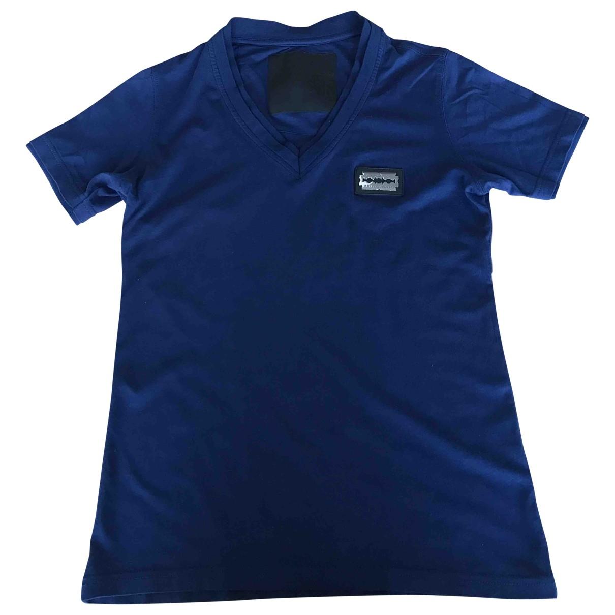 Philipp Plein \N Blue Cotton T-shirts for Men XS International