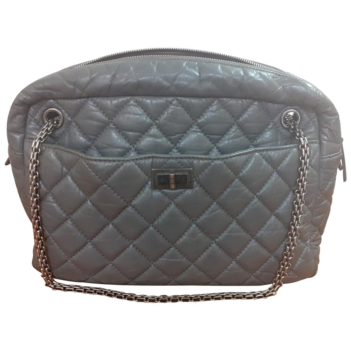 Chanel Camera Grey Leather handbag for Women N