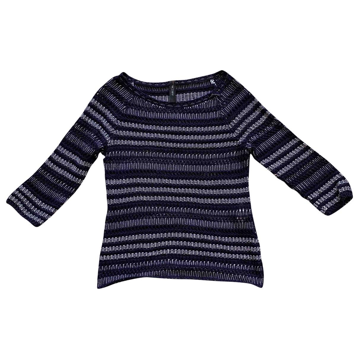 Marc Cain - Pull   pour femme en coton - bleu