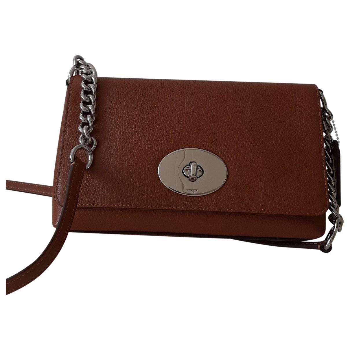 Coach Smooth Crossbody  Brown Leather handbag for Women N