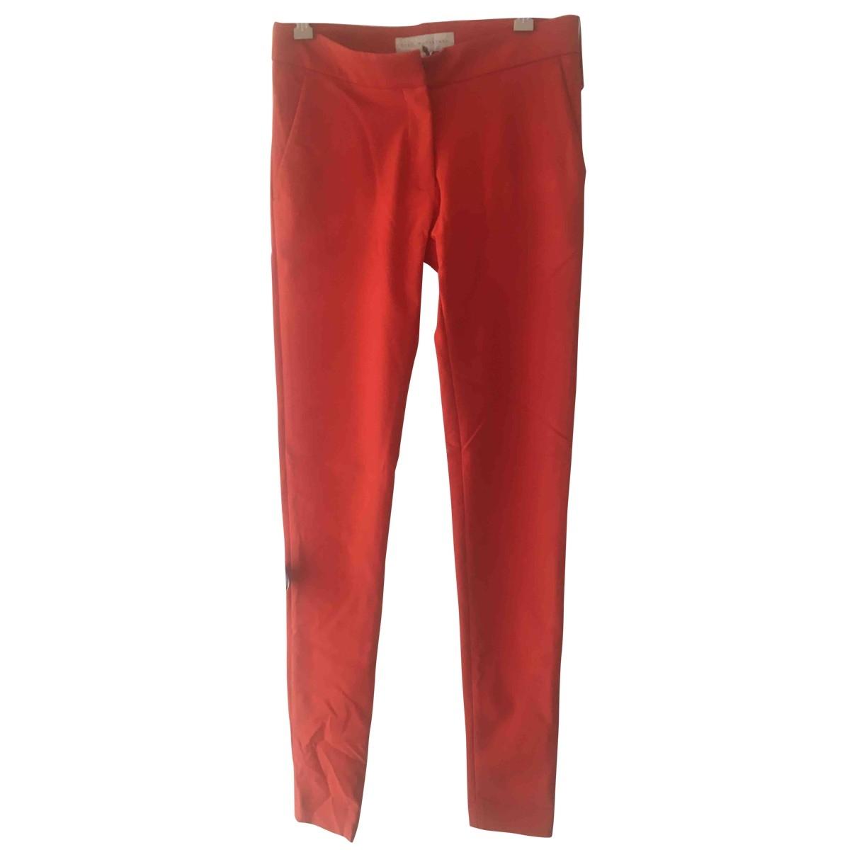 Stella Mccartney \N Red Cotton Trousers for Women 40 IT