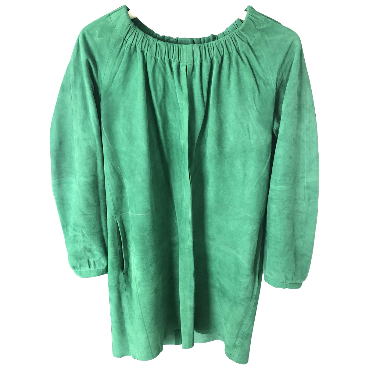 Iceberg \N Green Suede dress for Women 40 FR