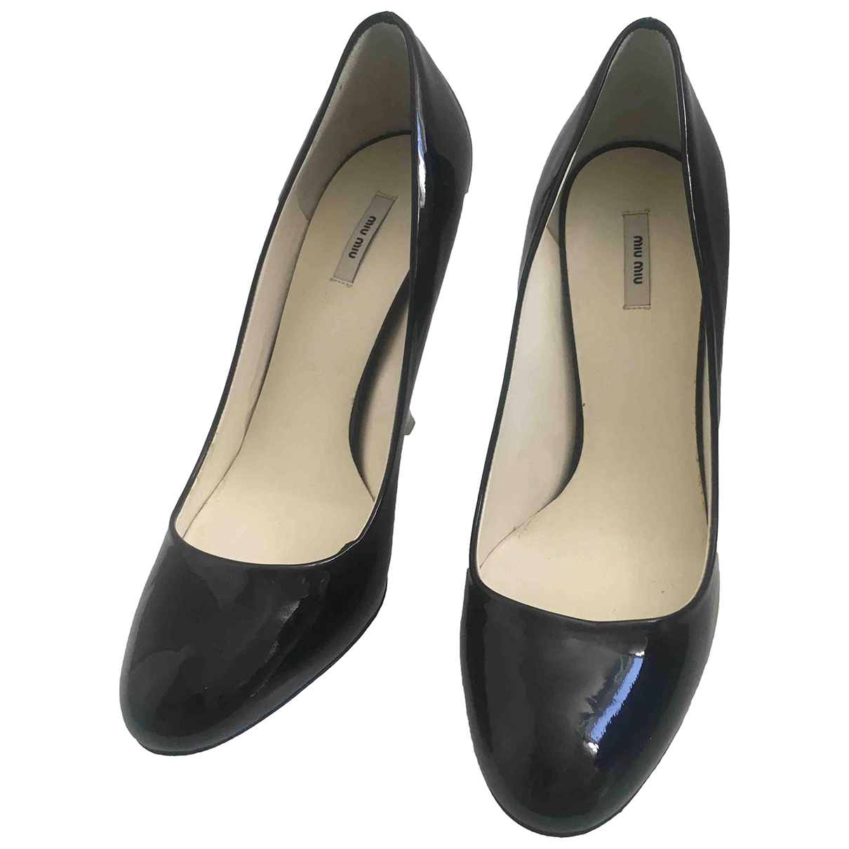 Miu Miu \N Black Patent leather Heels for Women 36 EU