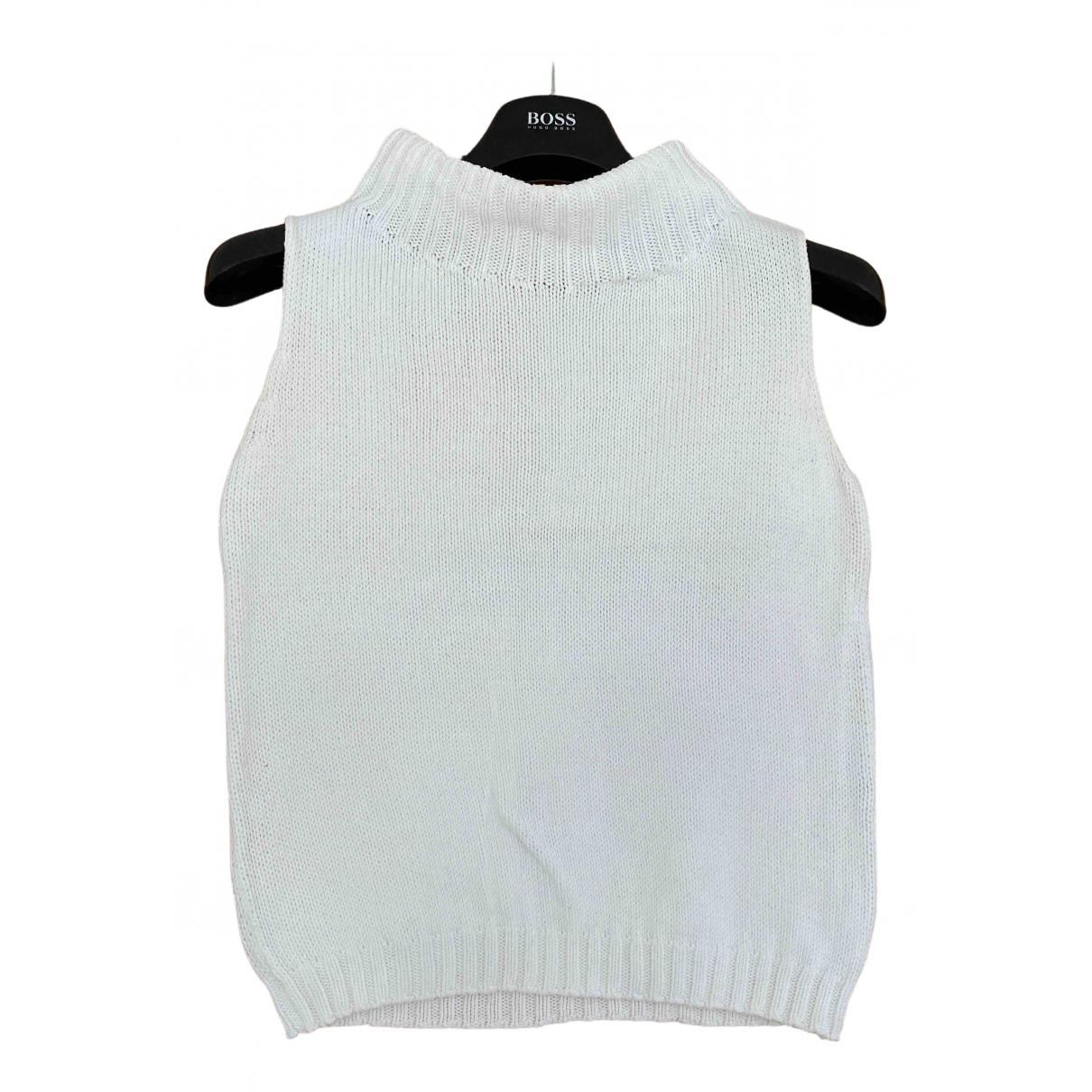 Max Mara Weekend - Pull   pour femme en coton - blanc