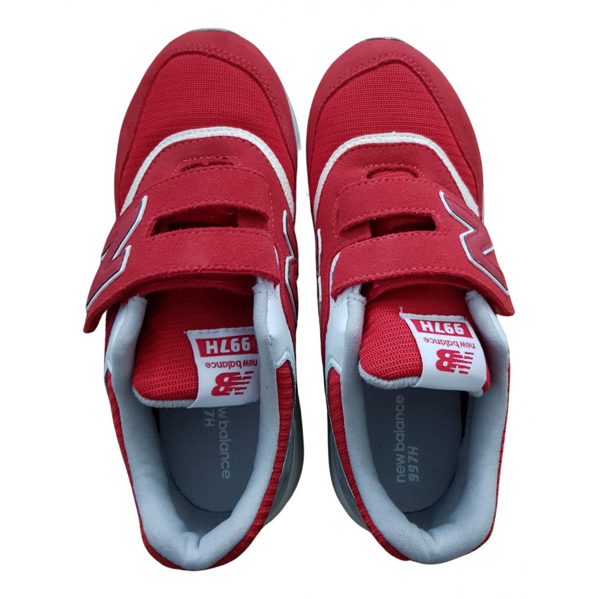 New Balance \N Sneakers in  Rot Veloursleder