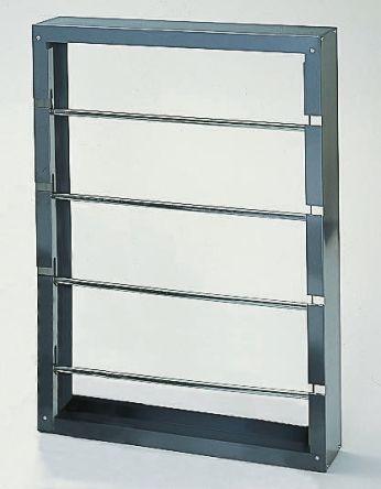 RS PRO Cable Rack 943mm (H) x 152.4mm (L) x 663.6 mm (W) 4 shelves in Steel