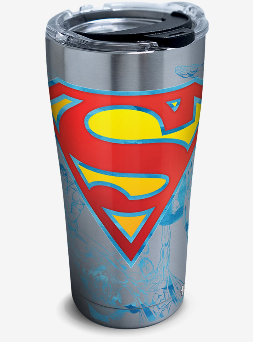 DC Comics Superman Lineage 20 oz Stainless Steel Tumbler With Lid